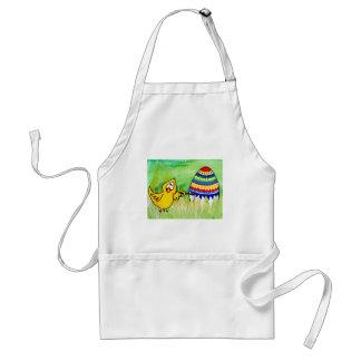easter chicklet adult apron