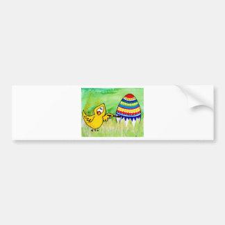 easter chicklet bumper sticker
