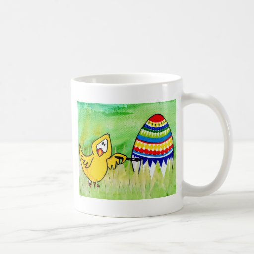 easter chicklet coffee mugs