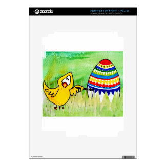 easter chicklet iPad 3 decals