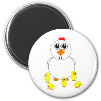 Easter Chicks 2 Inch Round Magnet