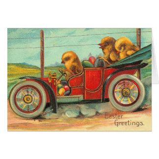 Easter Chicks Automobile Card
