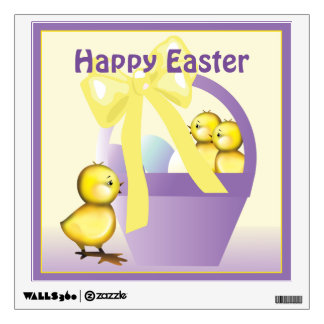 Easter Chicks Basket Wall Decal