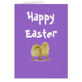 Easter CHICKS Stationery Note Card