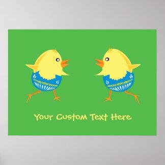 Easter Chicks custom poster