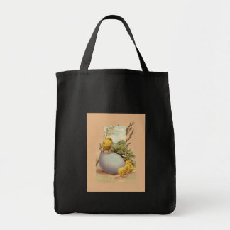 Easter - Chicks Egg PussyWillow- Antique Postcard Tote Bag