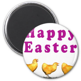 Easter Chicks in Grass 2 Inch Round Magnet