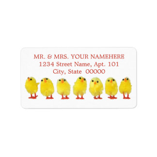 Easter Chicks Labels