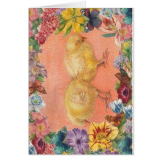 EASTER CHICKS LITTLE EASTER JOY GREETINGS CARD