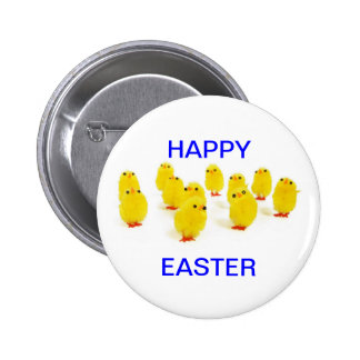 Easter chicks pinback button