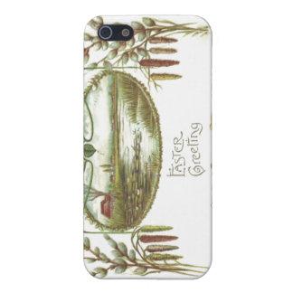 Easter - Chicks & Pond Arts & Crafts Postcard iPhone SE/5/5s Case