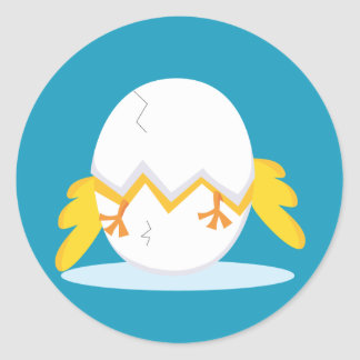 Easter Chicks Round Stickers