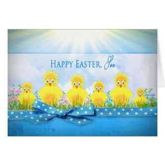 EASTER CHICKS - SON - BLUE/YELLOW CARD