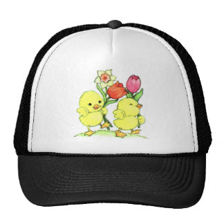 Easter Chicks With Flowers Trucker Hat