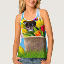 Easter Chihuahua dog all over print tank tops