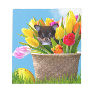 Easter Chihuahua dog Notepad