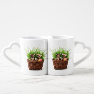 Easter Chihuahua puppies Coffee Mug Set