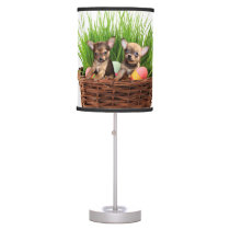Easter Chihuahua puppies Desk Lamp