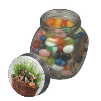 Easter Chihuahua puppies Glass Jars