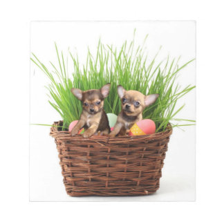 Easter Chihuahua puppies Notepad