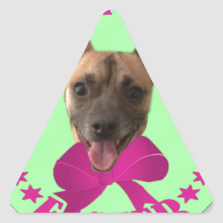 EASTER CHIHUAHUA TRIANGLE STICKER