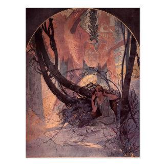 Easter Chimes Awaken Nature by Alphonse Mucha Postcard