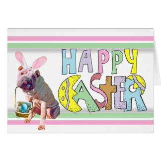 Easter Chinese Shar Pei Card
