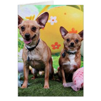Easter - Chipin Rockwell - Chihuahua Rambo Greeting Card
