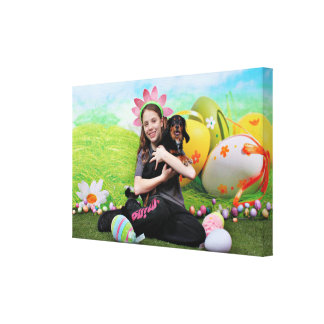 Easter - Chiweenie - Titus Canvas Prints
