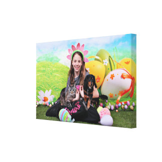 Easter - Chiweenie - Titus - Cat - Milo Gallery Wrap Canvas