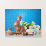Easter Chocolate Bunny & Tulips Jigsaw Puzzle