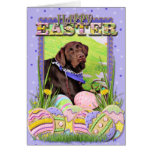 Easter - Chocolate Labrador - Hershey Greeting Card