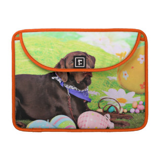 Easter - Chocolate Labrador - Hershey MacBook Pro Sleeve