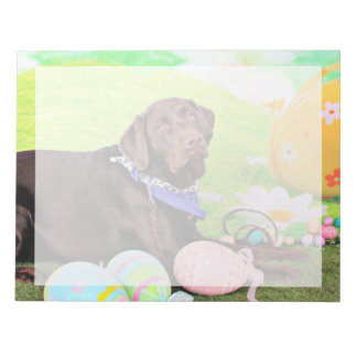 Easter - Chocolate Labrador - Hershey Memo Pads