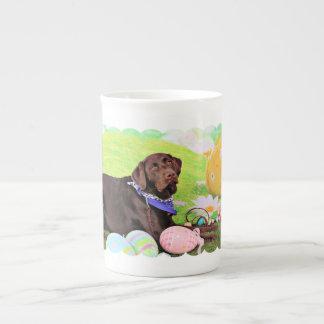 Easter - Chocolate Labrador - Hershey Tea Cup