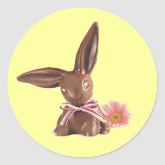 Easter chocolates classic round sticker