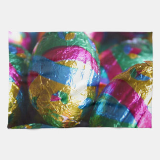 Easter Chocolates Wrapped in Vivid Color Hand Towel