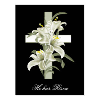 Easter Christianity He has Risen Postcard