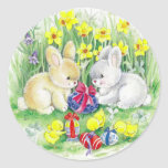 Easter Classic Round Sticker