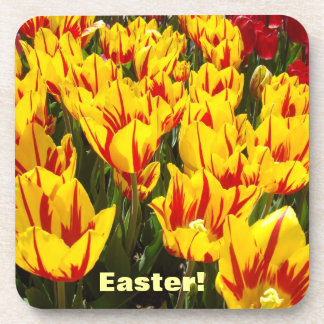 Easter! coasters Holiday Celebration Party Tulips