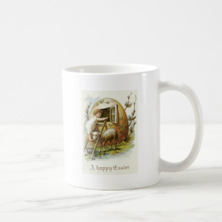 Easter Colored Egg Lamb Forget-Me-Not Coffee Mug