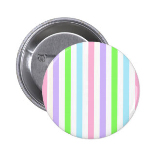 Easter Colored Stripes Striped pink purple green 2 Inch Round Button