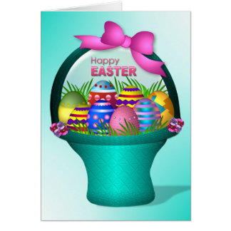Easter - Colorful Eggs Card