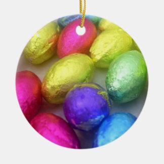 'Easter Colors' Ornament Round Ceramic Ornament