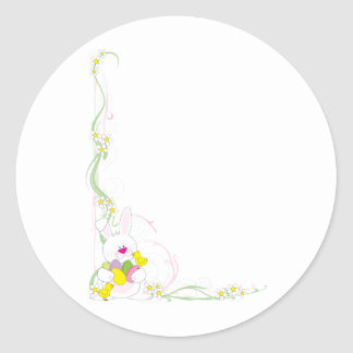 Easter Corner Classic Round Sticker