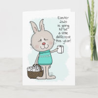 Easter Covid 19-Easter Bunny with Toilet Paper Card