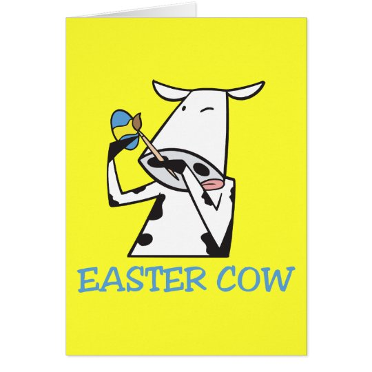 Easter Cow Card