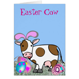 Easter Cow Greeting Card