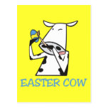 Easter Cow Post Card