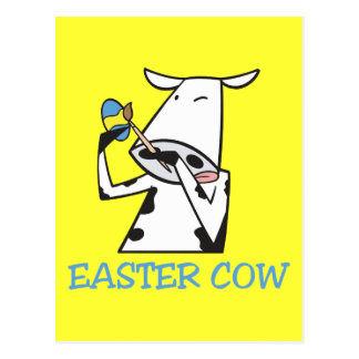 Easter Cow Postcard